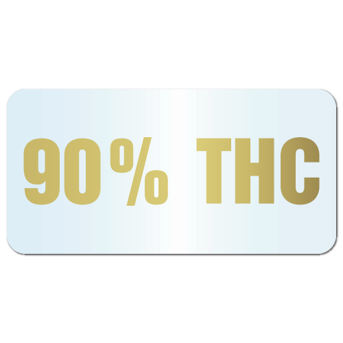 90% THC labels Sample