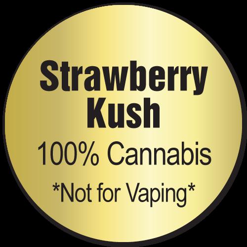 Strawberry Kush Label Sample