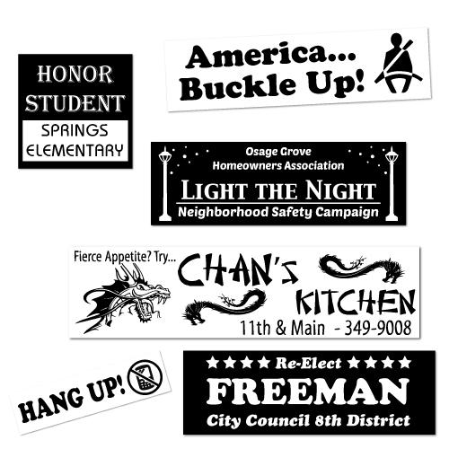 Economy custom printed durable vinyl bumper stickers