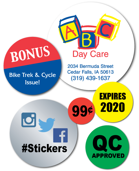 Superior quality stickers personalized with your logo artwork or design get a free artwork proof