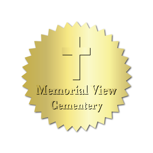 Embossed Funeral Home Labels 1.5 Inch Diamter Burst