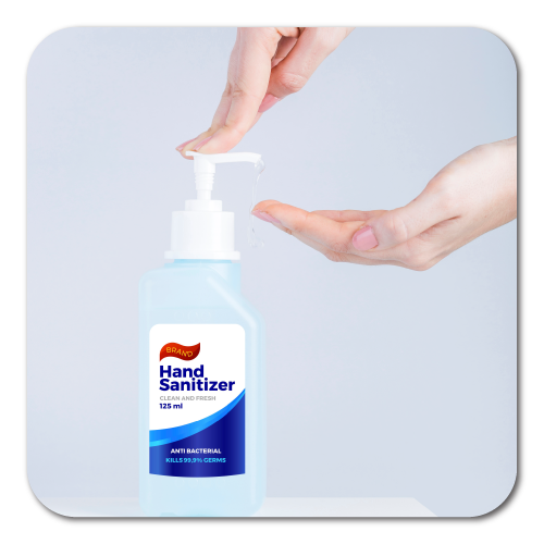 Custom Printed Labels for Small Hand Sanitizers Bottles