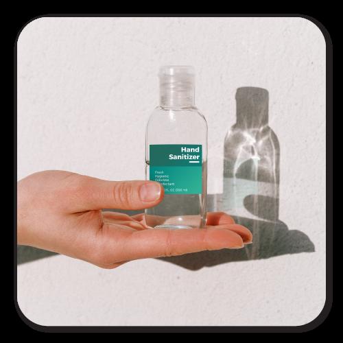 Custom Printed Labels for Large Hand Sanitizers Bottles