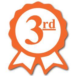 """Third Place"" Ribbon Award Labels"