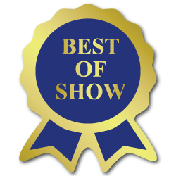 """Best of Show"" Ribbon Award Labels"
