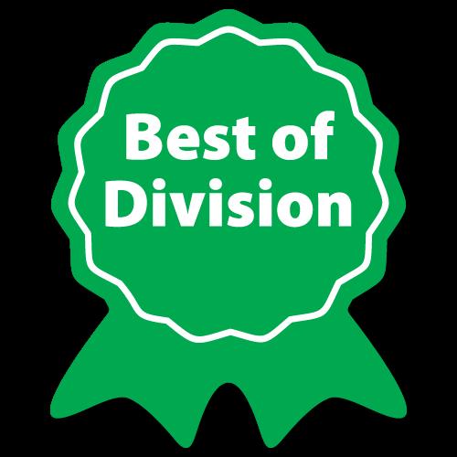 """Best of Division"" Ribbon Award Labels"