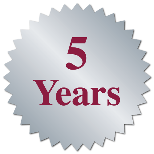 """5 Years"" Serrated Edge Labels"