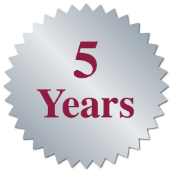 """5 Years"" Burst Circle Seal Labels"