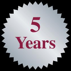 """""""5 Years"""" Burst Circle Seal Labels"""