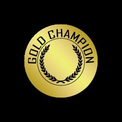 Gold Champion Award Stickers