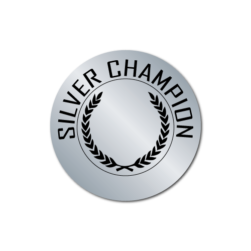 Silver Champion Award Stickers