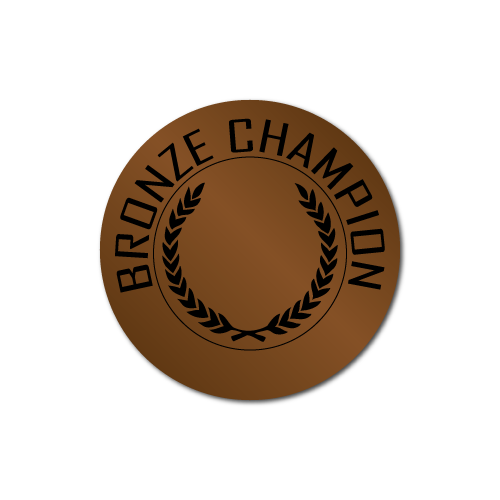 Bronze Champion Award Stickers