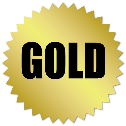 Gold Award Stickers