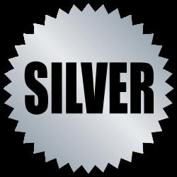 Silver Award Stickers