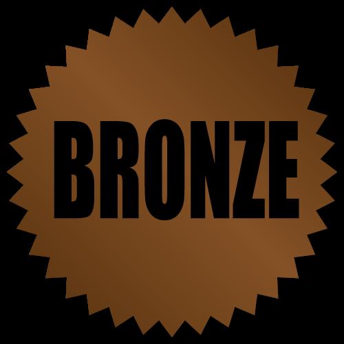 Bronze Award Stickers