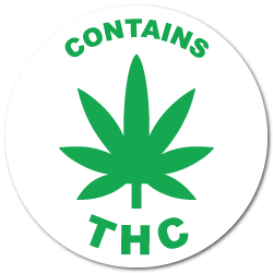 Contains THC Labels