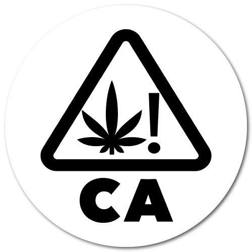 Cannabis Warning Symbol for California Labels