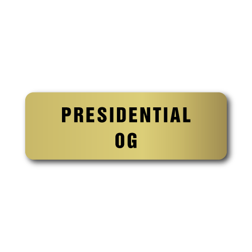 Presidential OG, Gold Rectangle, Roll of 1,000 Stickers