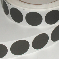 "1"" Black Matte Paper Circle Wafer Seals"