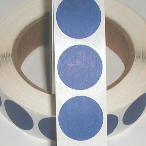 "1"" Blue Matte Paper Circle Wafer Seals"