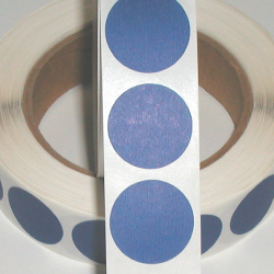 "1"" Blue Matte Paper Circle Wafer Seals"