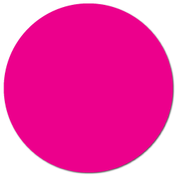 "1"" Pink Fluorescent Paper Circle Seals"