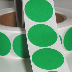 "1"" Green Matte Paper Circle Wafer Seals"