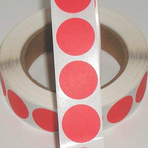 "1"" Red Matte Paper Circle Wafer Seals"