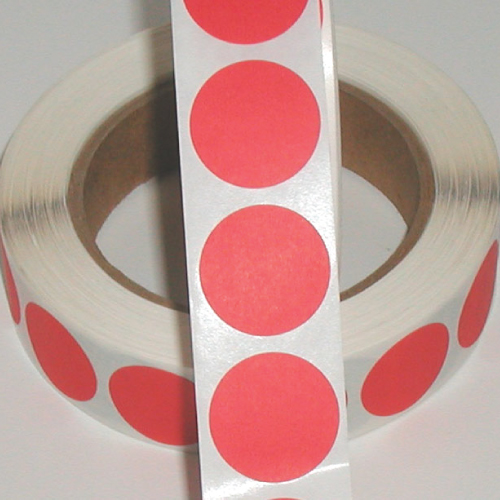 "1"" Red Matte Paper Circle Wafer Seals"
