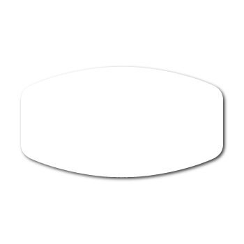 """0.75"""" X 1.375"""" Modified Oval Labels"""