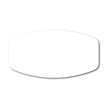 """1.5"""" X 2.8125"""" Modified Oval Labels"""