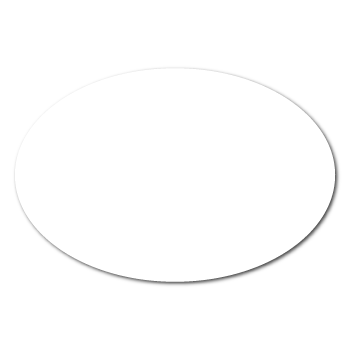 "2"" x 1"" Blank Oval Stickers"