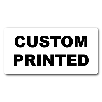 """0.25"""" x 0.75"""" Round Corners Rectangle Cover-up Custom Printed Stickers"""