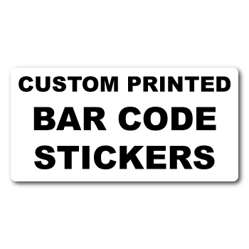 "4"" x 2"" Round Corner Rectangle Custom Bar Code Stickers"