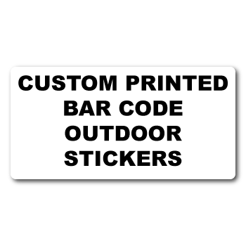 "1"" x 0.375"" Round Corner Rectangle Custom Bar Code Stickers"
