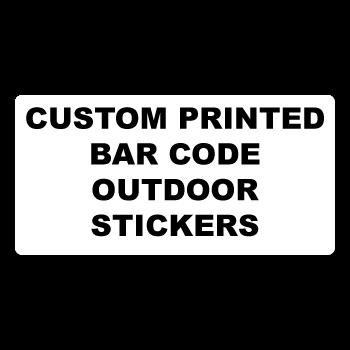 "1"" x 0.375"" Round Corner Rectangle Custom Bar Code Stickers"