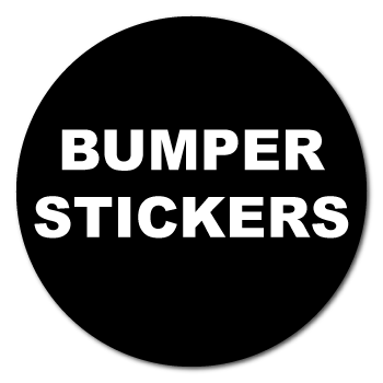 "3"" Circle Custom Printed Bumper Stickers"