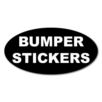 "3"" x 4"" Oval Custom Printed Bumper Stickers"