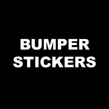 "3"" x 5"" Oval Custom Printed Bumper Stickers"