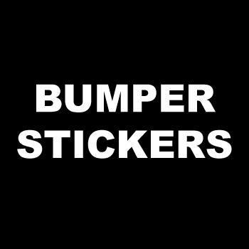 "2.75"" x 15"" Square Corner Rectangle Custom Printed 1 Color Bumper Stickers"