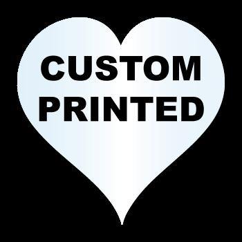 "1"" x 1"" Heart Shape Clear Custom Printed Stickers"