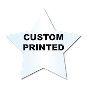 "2.375"" x 2.5"" Star Shape Clear Custom Printed Stickers"