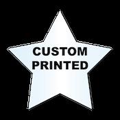 "2.375"" x 2.5"" Star Shape Clear Custom Printed Stickers"