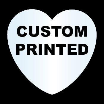 "2.875"" x 2.75"" Heart Shape Clear Custom Printed Stickers"