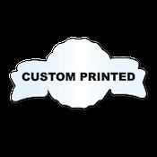 "1.375"" x 2.625"" Anniversary Shape Clear Custom Printed Stickers"