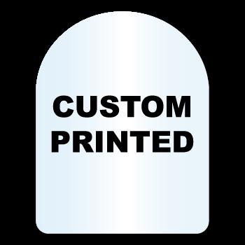 "1.75"" x 2.25"" Arch Shape Clear Custom Printed Stickers"