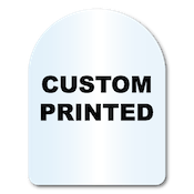 "1.75"" x 2.25"" Arch Shape Clear Custom Printed Stickers"