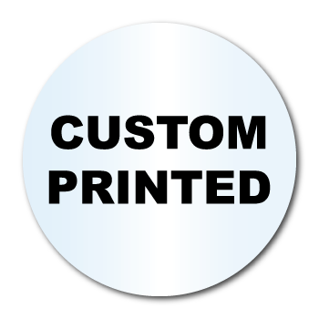 "3.25"" Diameter Circle Clear Custom Printed Stickers"
