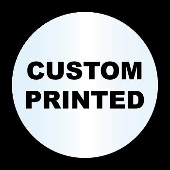"1"" Diameter Circle Clear Custom Printed Stickers"