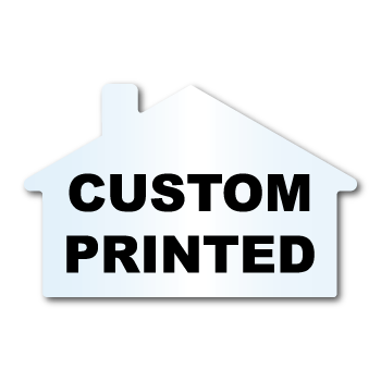 "1.875"" x 2.875"" House Shape Clear Custom Printed Stickers"